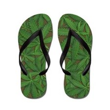 Marijuana Pot Leaves Flip Flops