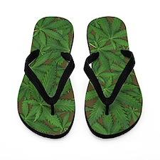 Marijuana Pot Leaves Flip Flops