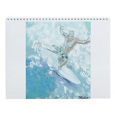 Cute Surfer Wall Calendar