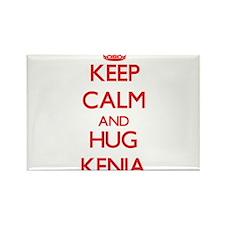 Keep Calm and Hug Kenia Magnets