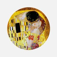 "The Kiss by Klimt 3.5"" Button"