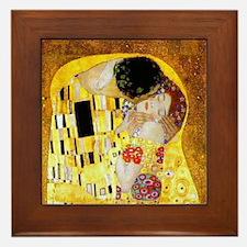 The Kiss by Klimt Framed Tile