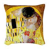 Gold art Throw Pillows