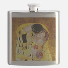 The Kiss by Klimt Flask