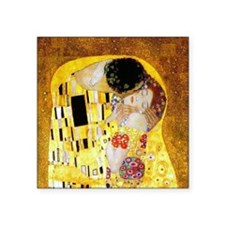 "The Kiss by Klimt Square Sticker 3"" x 3"""
