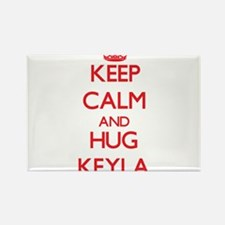 Keep Calm and Hug Keyla Magnets