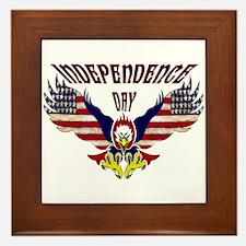 Eagle w/ Flag Wings (Independence Day)  Framed Til