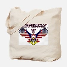 Eagle w/ Flag Wings (Independence Day)  Tote Bag