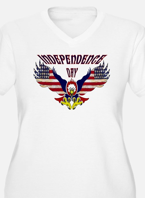 Eagle w/ Flag Wings (Independence Day)  T-Shirt