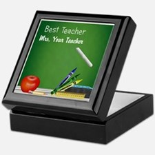 Best Teacher Customize Keepsake Box