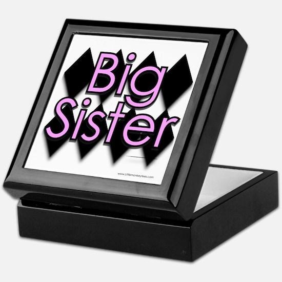 Big sister pink diamond Keepsake Box