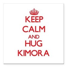 "Keep Calm and Hug Kimora Square Car Magnet 3"" x 3"""