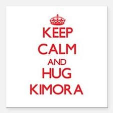 "Keep Calm and Hug Kimora Square Car Magnet 3"" x 3"""