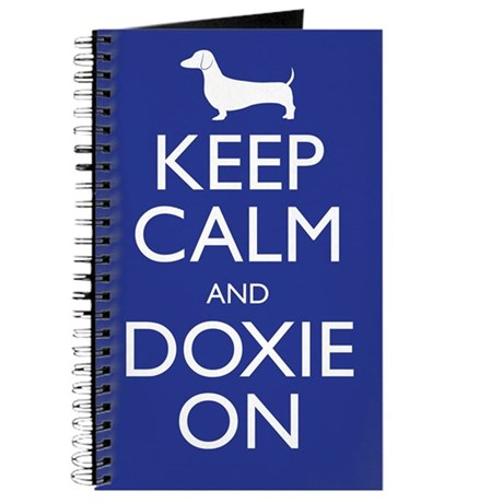 Keep Calm and Doxie On Journal