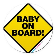 Baby On Board Round Car Magnet