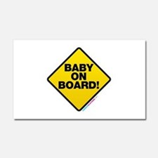 Baby On Board Car Magnet 20 x 12