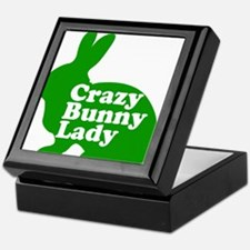 Crazy Bunny Lady Keepsake Box
