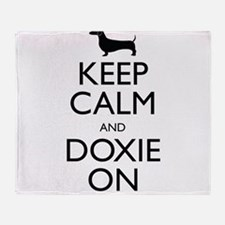 Keep Calm and Doxie On Throw Blanket