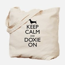 Keep Calm and Doxie On Tote Bag