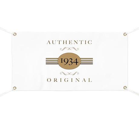 1934 Authentic Original Banner