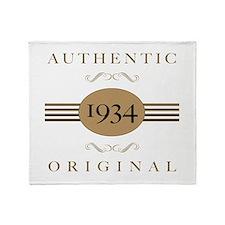 1934 Authentic Original Throw Blanket