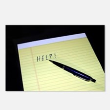 Notepad Pen Help Postcards (Package of 8)