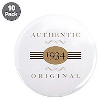 "1934 Authentic Original 3.5"" Button (10 pack)"