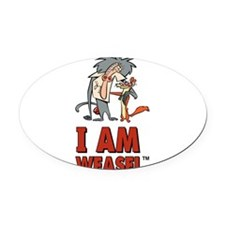 I Am Weasel Friends Oval Car Magnet