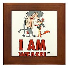 I Am Weasel Friends Framed Tile