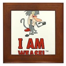 I Am Weasel Baboon Framed Tile