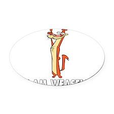 I Really Am Weasel! Oval Car Magnet