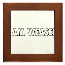 I Am Weasel Logo White Framed Tile
