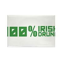 100% Irish 100% Drunk Rectangle Magnet (10 pack)