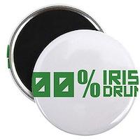 "100% Irish 100% Drunk 2.25"" Magnet (100 pack)"