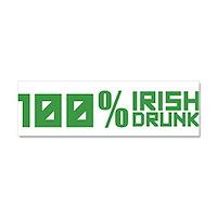 100% Irish 100% Drunk Car Magnet 10 x 3