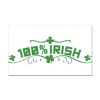 100% Irish Floral Rectangle Car Magnet