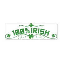100% Irish Floral Car Magnet 10 x 3