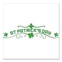 "St Patricks Day Floral Square Car Magnet 3"" x 3"""