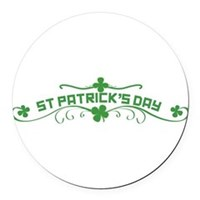 St Patricks Day Floral Round Car Magnet