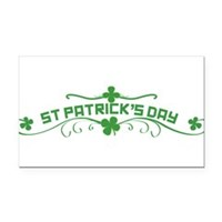 St Patricks Day Floral Rectangle Car Magnet