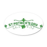 St Patricks Day Floral Oval Car Magnet