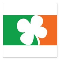 "Pro Irish Square Car Magnet 3"" x 3"""