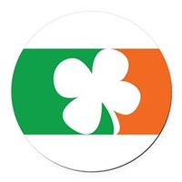 Pro Irish Round Car Magnet