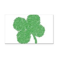 Emo Skull Clover Rectangle Car Magnet
