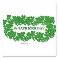 "St Patrick's Day Reef Square Car Magnet 3"" x 3"""