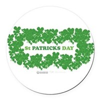 St Patrick's Day Reef Round Car Magnet