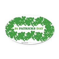 St Patrick's Day Reef Oval Car Magnet
