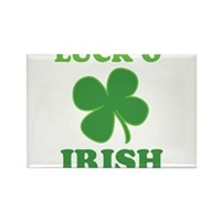Luck O' Irish Clover Rectangle Magnet (100 pack)
