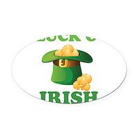 Luck o' Irish Oval Car Magnet