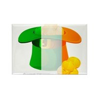 Irish Hat Flag Colors Rectangle Magnet (10 pack)
